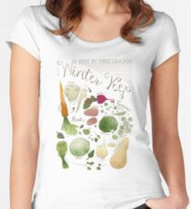 Winter Vegetables Women's Fitted Scoop T-Shirt