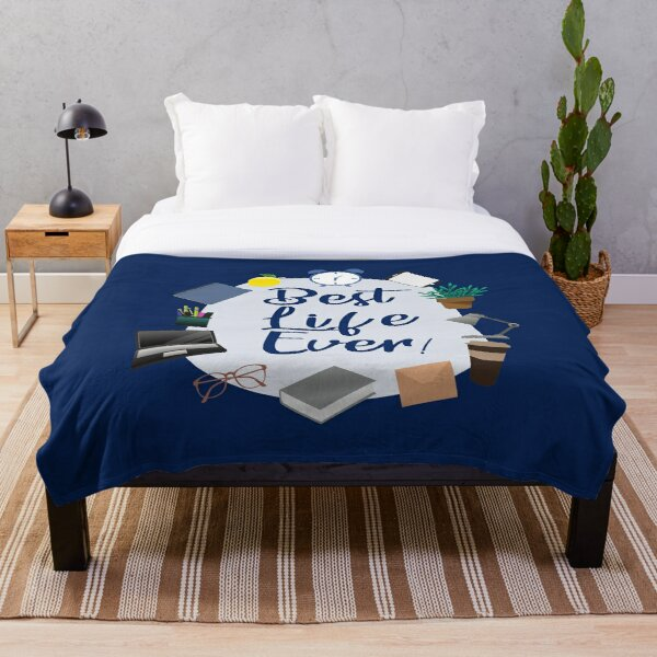 Best life Ever - Letter Writing for Brothers Throw Blanket
