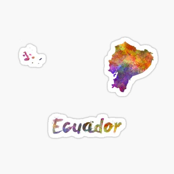 Ecuador en acuarela Pegatina