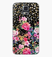Modern watercolor spring floral and gold dots pattern Case/Skin for Samsung Galaxy