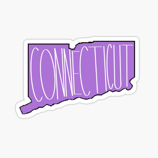 Connecticut in Purple Sticker