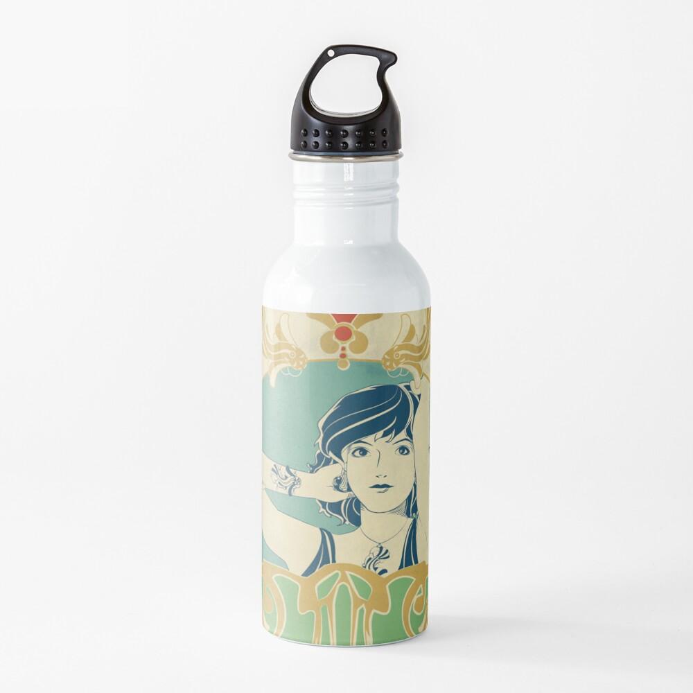 Gourde «Parure Poisson bleu - Illustration Art Nouveau»