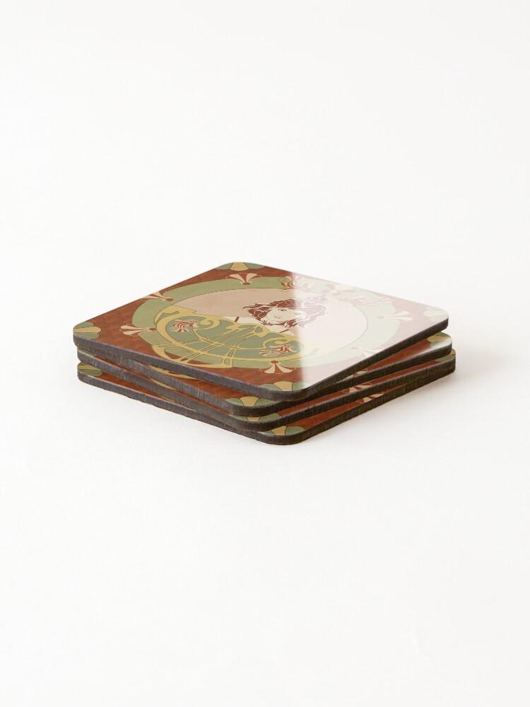 Dessous de verre (lot de 4) ''Parure Poisson rouge': autre vue