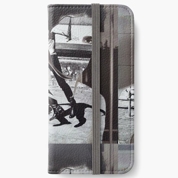 Collage Face CutOut iPhone Wallet