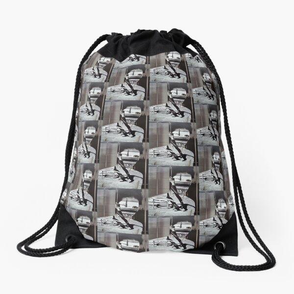 Collage Face CutOut Drawstring Bag