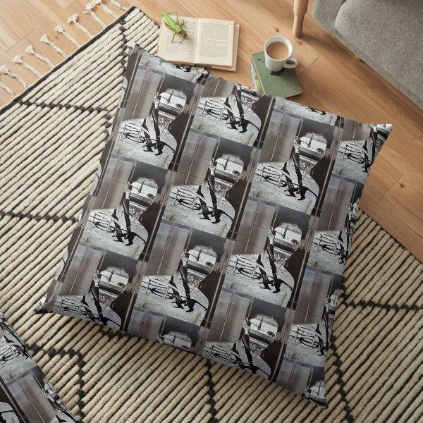 Collage Face CutOut Floor Pillow