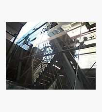 Stairs behind glass Photographic Print