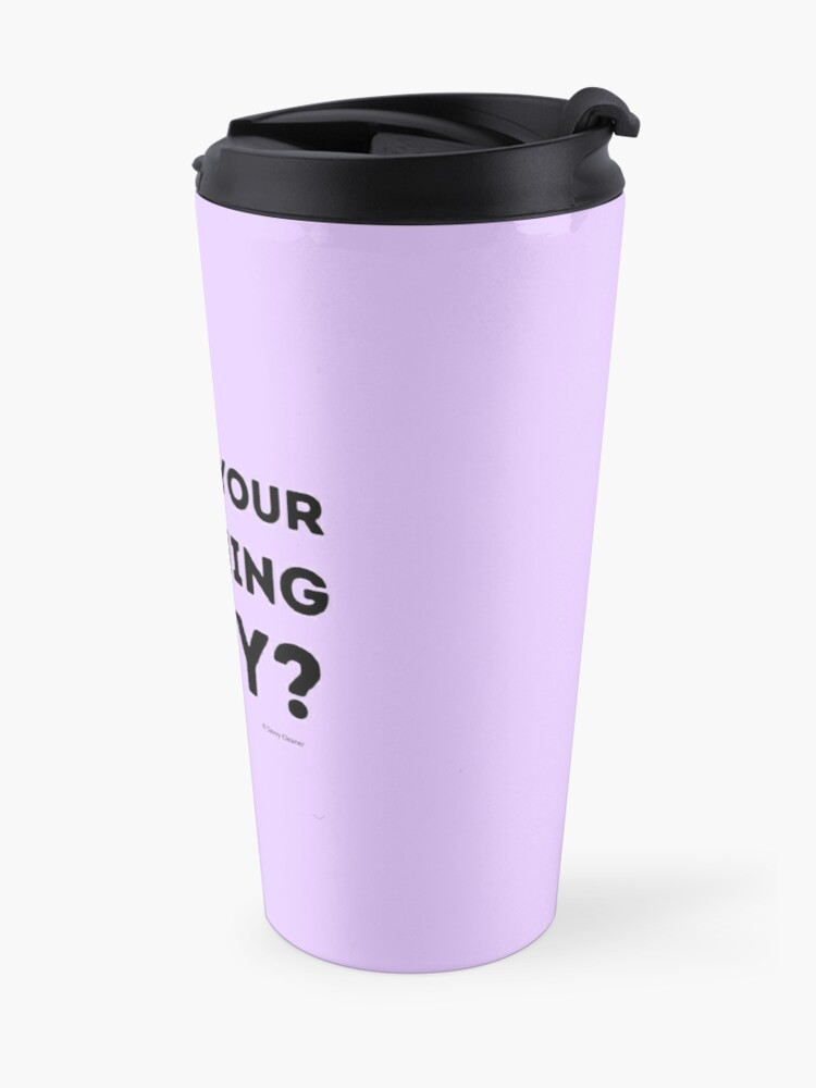 Alternate view of Who's Your Cleaning Lady Housekeeping Humor Travel Mug