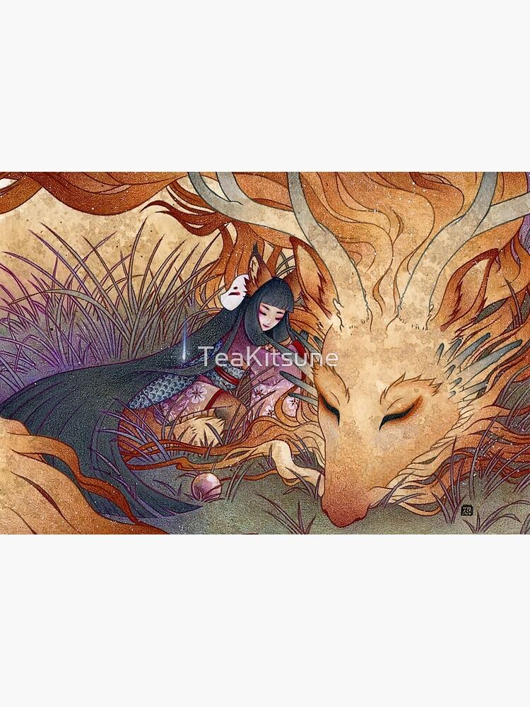 Slumber - TeaKitsune Dragon Fox by TeaKitsune