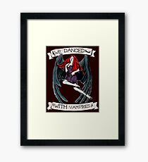 With Vampires (Little Earthquakes) Framed Print