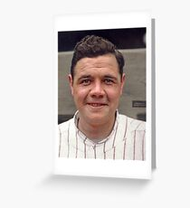 Colorization - Babe Ruth Greeting Card