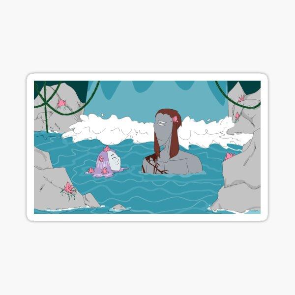 The hot spring  Sticker