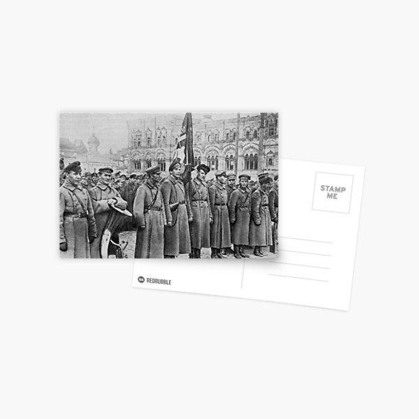 Military parade: Москва. Красная площадь. 1918 год. Рогожско-Смоленский пехотный полк. Postcard