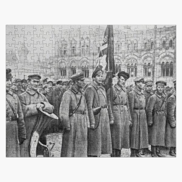 Military parade: Москва. Красная площадь. 1918 год. Рогожско-Смоленский пехотный полк. Jigsaw Puzzle