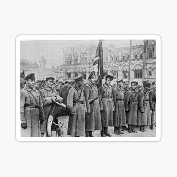 Military parade: Москва. Красная площадь. 1918 год. Рогожско-Смоленский пехотный полк. Sticker