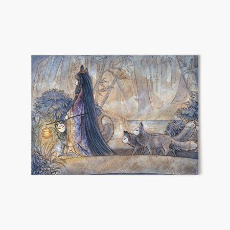 Silent Crossing - TeaKitsune Fox Yokai Art Board Print