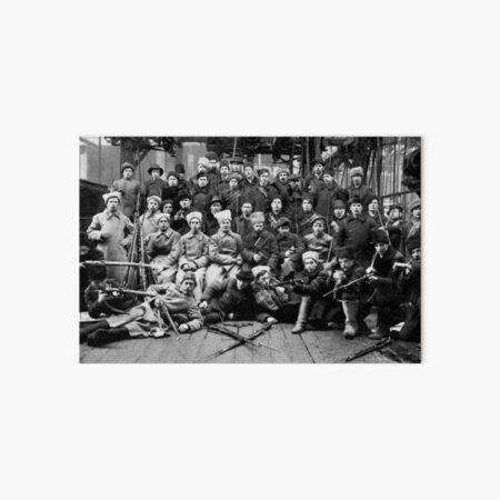 Отряд Красной гвардии перед отправкой на дутовский фронт. Урал. 13 марта 1918. Art Board Print