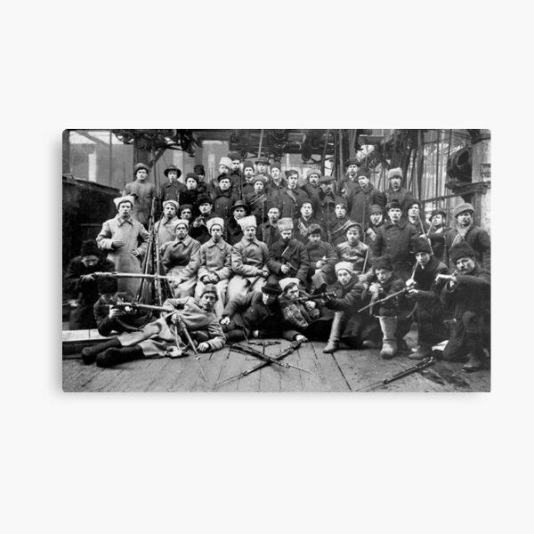 Отряд Красной гвардии перед отправкой на дутовский фронт. Урал. 13 марта 1918. Metal Print