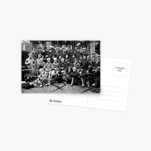 Отряд Красной гвардии перед отправкой на дутовский фронт. Урал. 13 марта 1918. Postcard