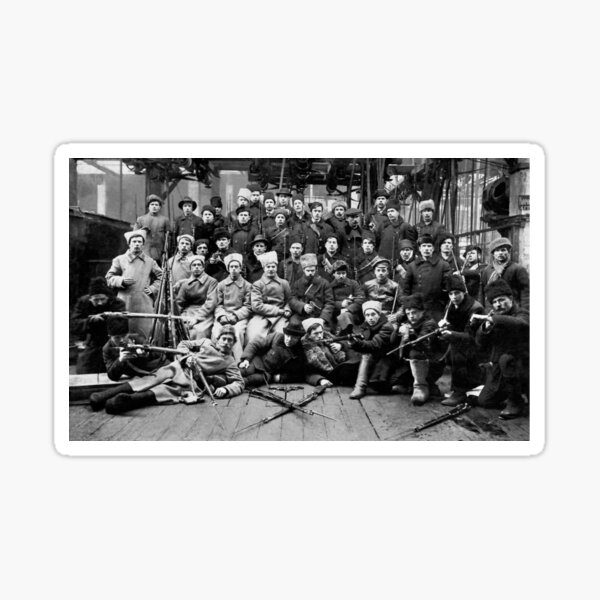 Отряд Красной гвардии перед отправкой на дутовский фронт. Урал. 13 марта 1918. Sticker
