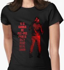 Nächster Halt: Pee-Pee Pants City Tailliertes T-Shirt für Frauen