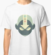 Aang's head with 4 elements Classic T-Shirt