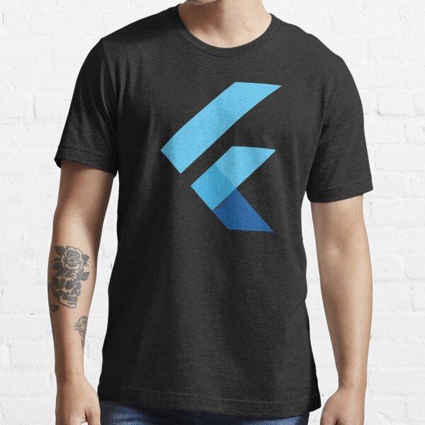 Flutter Logo for Flutter/Dart Software Developer (Black) Essential T-Shirt