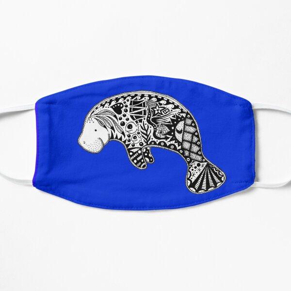 Florida Manatee Blue Flat Mask