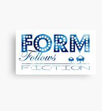 Form Follows Fiction Canvas Print