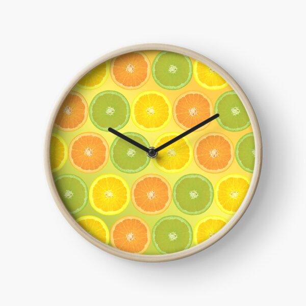 Délicieux agrumes. Horloge