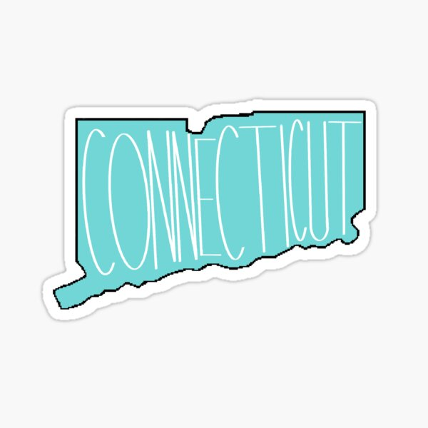 Connecticut in Teal Sticker