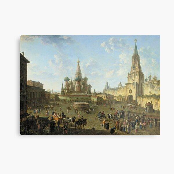 Russia History: Федор Алексеев «Красная площадь в Москве», 1801 год Metal Print