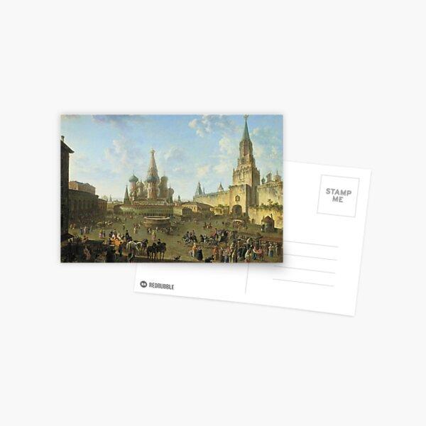 Russia History: Федор Алексеев «Красная площадь в Москве», 1801 год Postcard