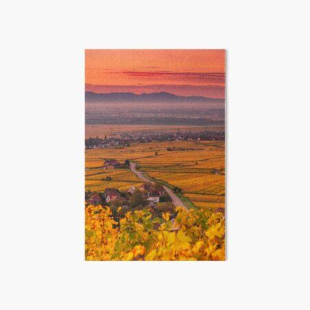 Vignoble et plaine d'Alsace en automne Impression rigide