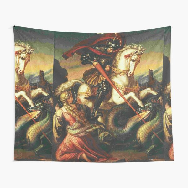 St George with Dragon, by Carl Joseph Begas Tapestry