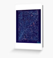 USGS TOPO Map Connecticut CT Gilead 331031 1892 62500 Inverted Greeting Card