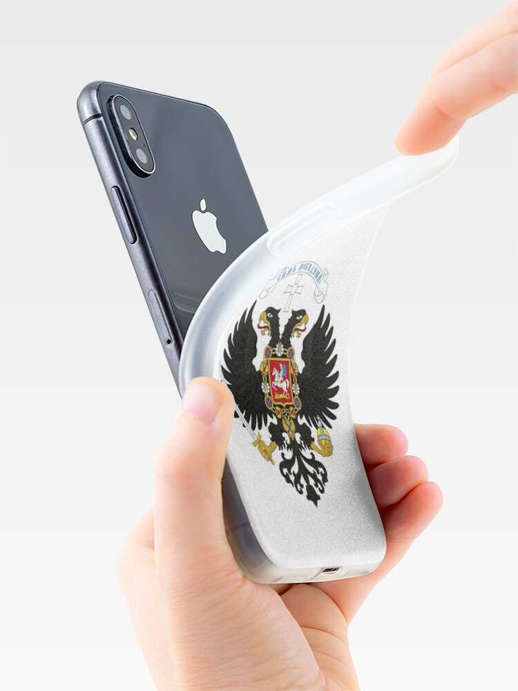 Alternate view of Coat of arms project for the Russian State, used by the governments of Alexander Kolchak and Anton Denikin iPhone Case