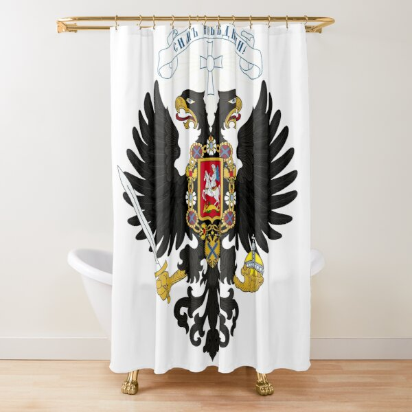 Coat of arms project for the Russian State, used by the governments of Alexander Kolchak and Anton Denikin Shower Curtain