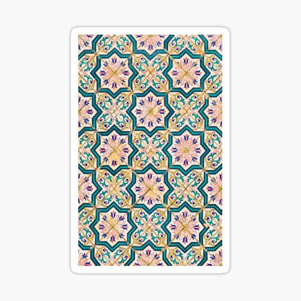 Pink Portuguese Tile Sticker