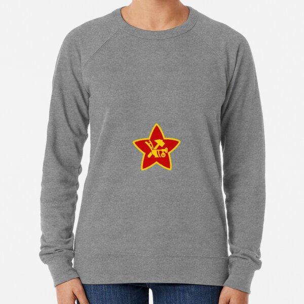 Soviet Red Army insignia used on Hat Badges and Flags Lightweight Sweatshirt