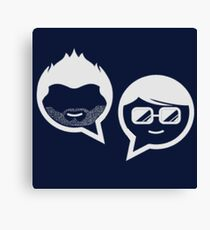Stubble and The Nerd Podcast Canvas Print