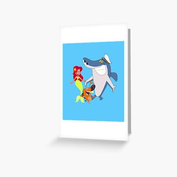 Zig and Sharko Marina Mermaid Greeting Card