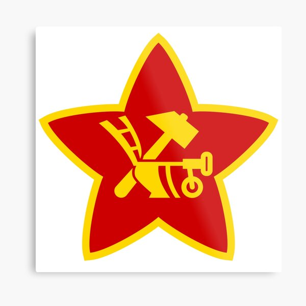 Soviet Red Army insignia used on Hat Badges and Flags Metal Print