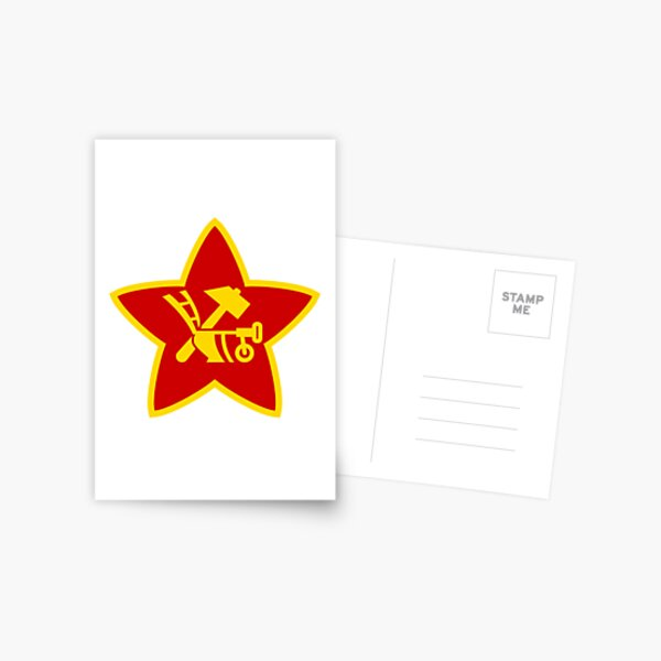 Soviet Red Army insignia used on Hat Badges and Flags Postcard