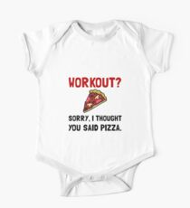 Work Out Pizza One Piece - Short Sleeve