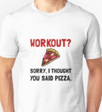 Work Out Pizza Unisex T-Shirt