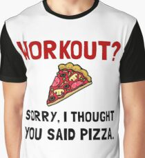 Work Out Pizza Graphic T-Shirt