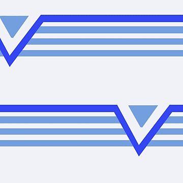 blue stripes on white,chevron by tatyanash