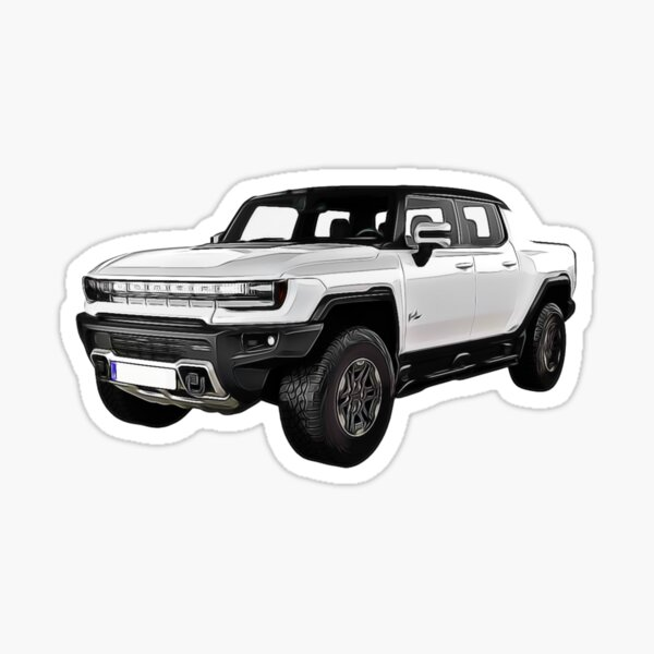 Hummer EV Truck Cartoon Sticker