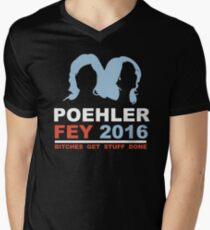 POEHLER FEY 2016 BITCHES GET STUFF DONE  Men's V-Neck T-Shirt